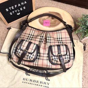 Burberry Haymarket Check Hobo / Crossbody Bag